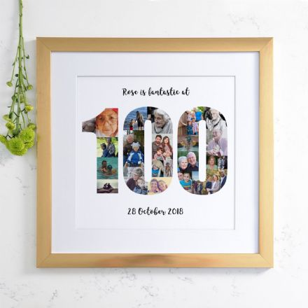 Personalised 100th Birthday Photo Collage